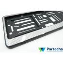 License plate carbon frame kit